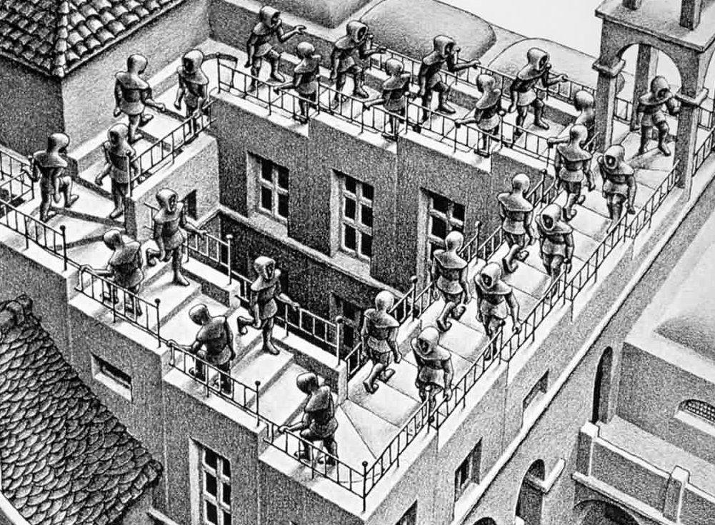 Súper Pt Emocionario 18 La Frustración Escaleras Arriba Y Escaleras Abajo De 1960 Por Escher Mc Escher Arte De Escher Arte