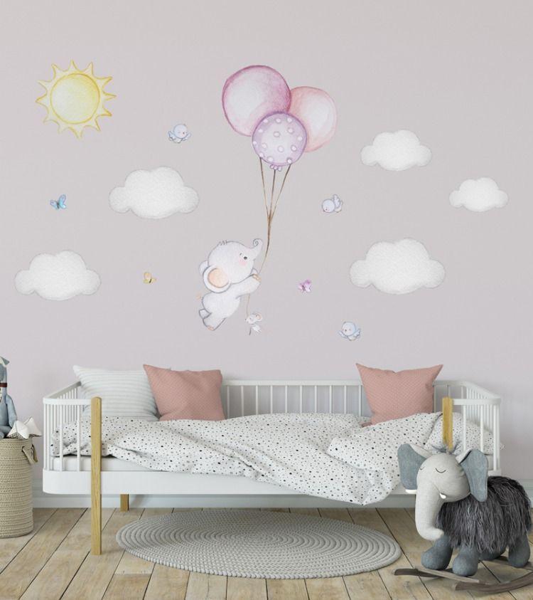 Balloon Nursery Elephant Wall Decal Elephant Balloon Wall Decal