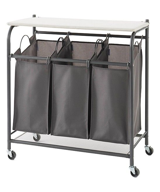 So Cool Triple Hamper With A Folding Table On Top And Also