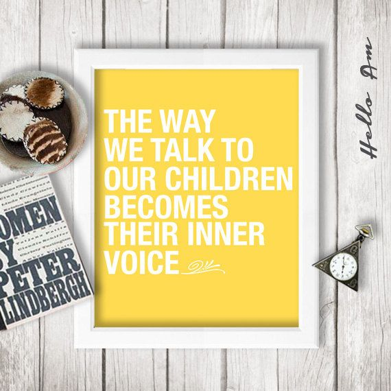 The way we talk to children Children Wall decor by HelloAm, $5.00 ...
