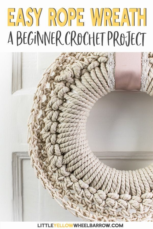 Photo of A Cozy Crochet Wreath to make for Fall, or Winter, or Whenever!