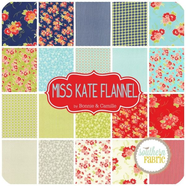 "Miss Kate Flannel - Charm Pack (5"") (55090PPF) by Bonnie and Camille for Moda 