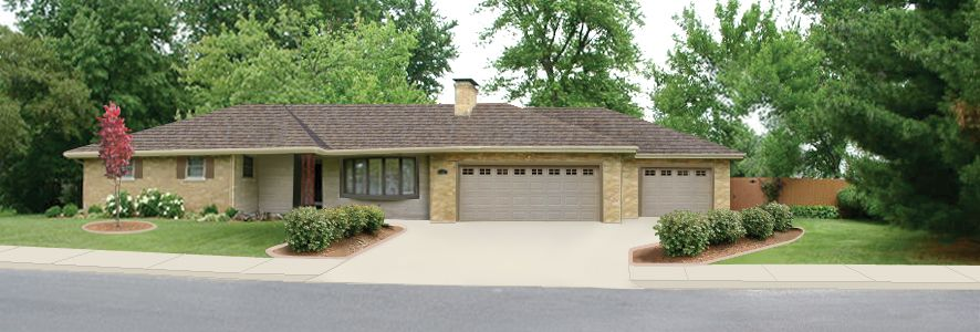Adding 3rd Stall Garage For Big Red Chevy Ssr Forum House Exterior Home Architecture Styles Exterior Paint Schemes