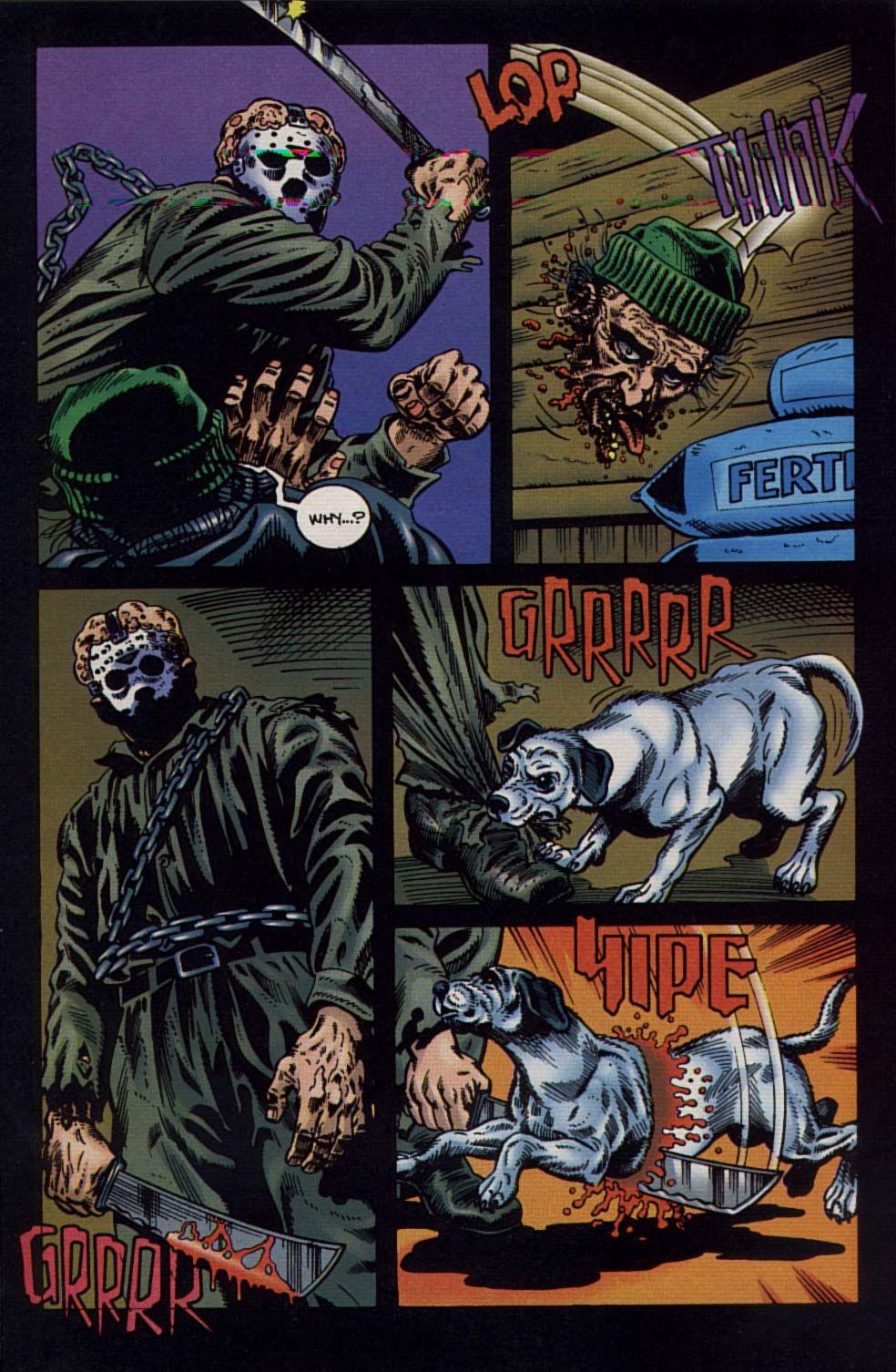 jason vs leatherface vol 1 #1 [topps] | artjeff butler & steve