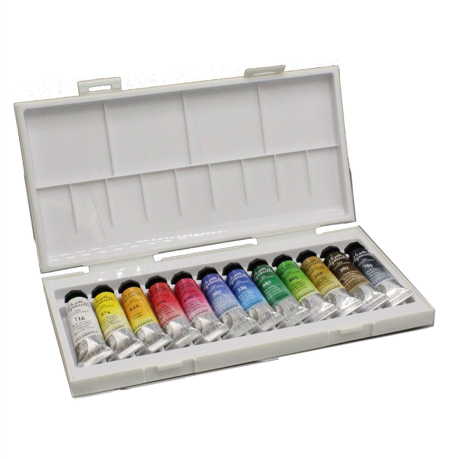 Sennelier La Petite Aquarelle Watercolour Travel Sets Half Pans Or