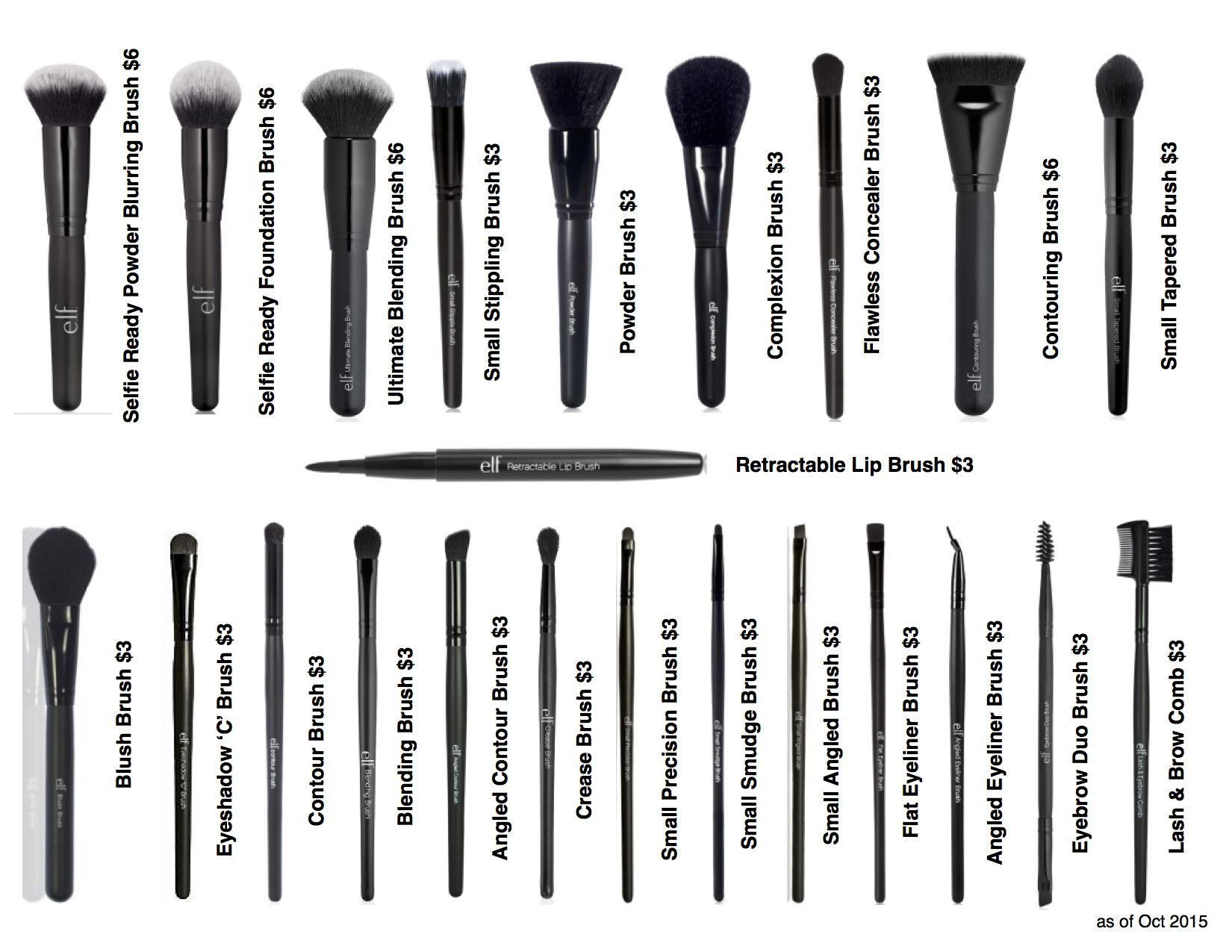 ELF Brushes i just bought the ultimate blending brush