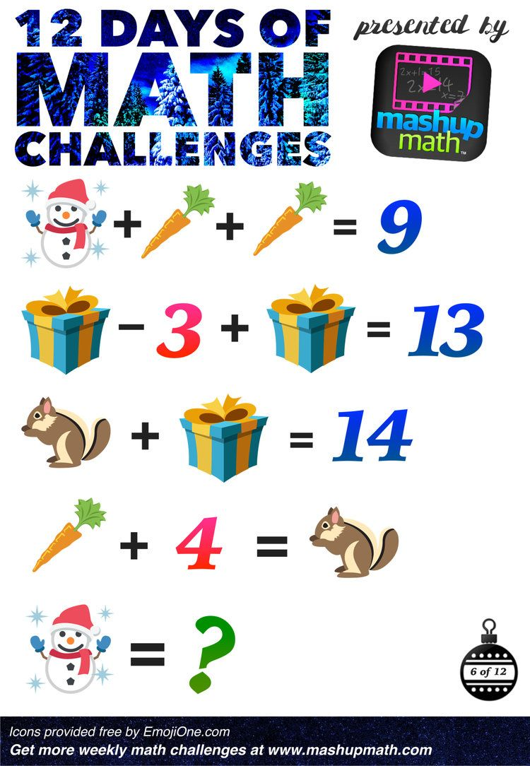 Are You Ready for 12 Days of Holiday Math Challenges? | Christmas