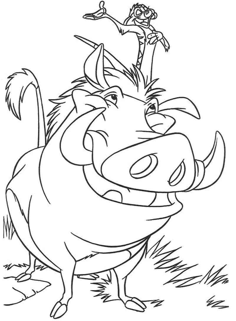 Lion King Coloring Pages Timon And Pumbaa King Coloring Book Lion King Drawings Disney Coloring Pages