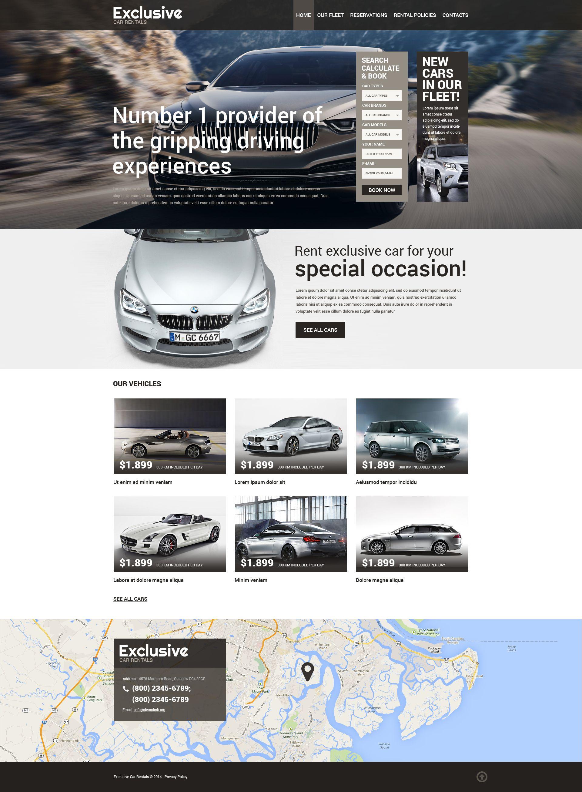Car Rental Responsive Website Template 50771 Website Template