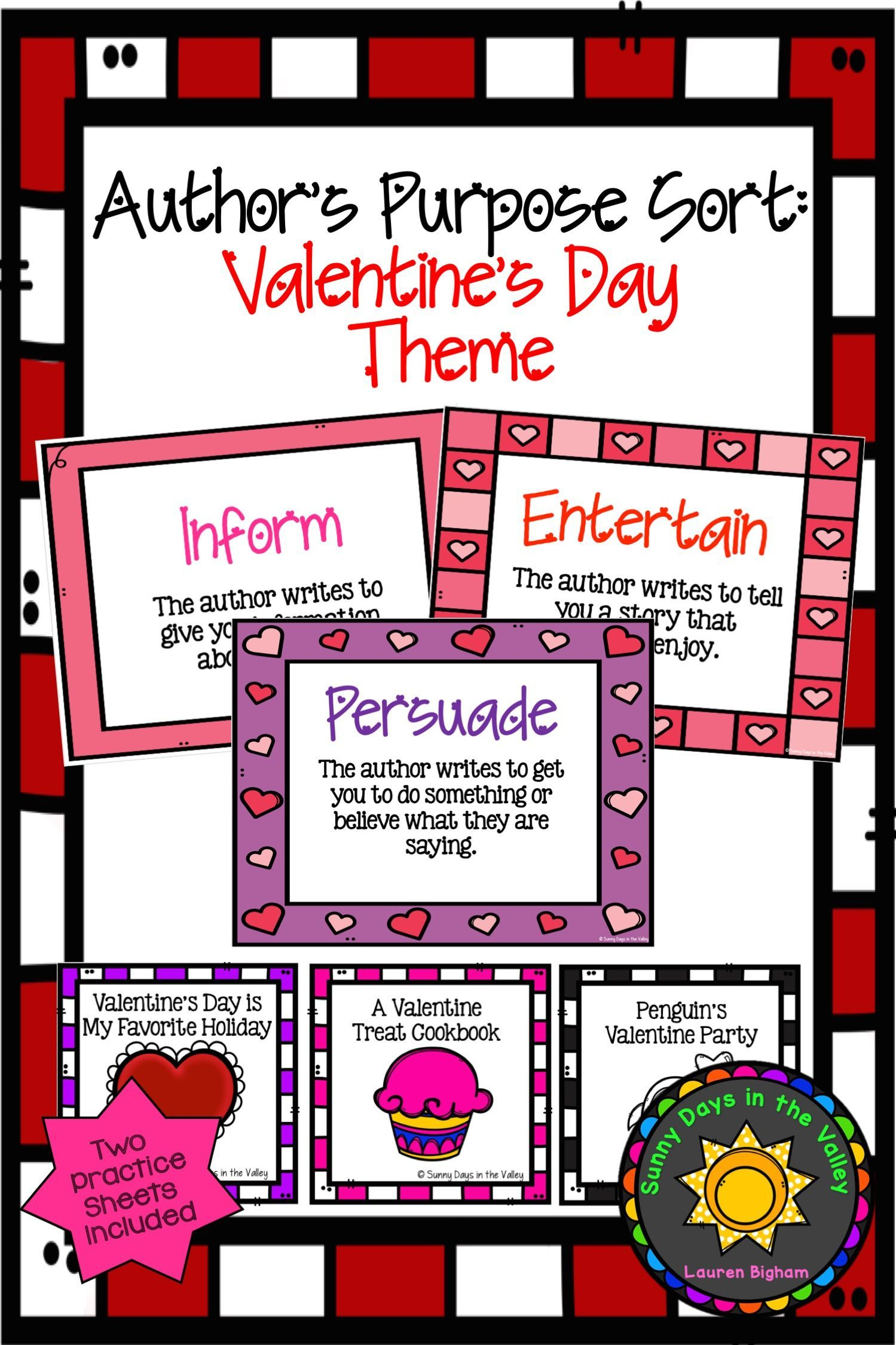Author S Purpose Sorting Valentine S Day Themed