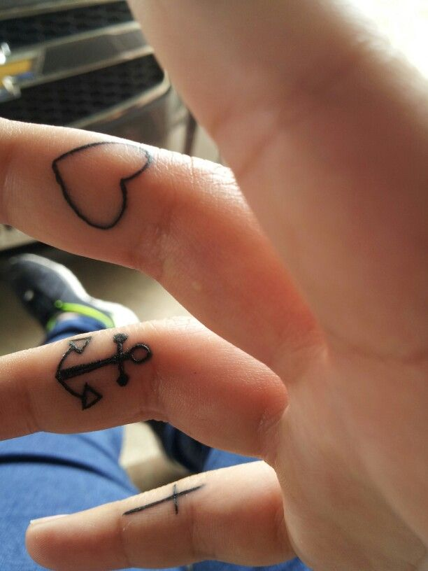 41e3f177d Faith, Hope and Love tattoo....I want these and on my fingers, well in  between just like this