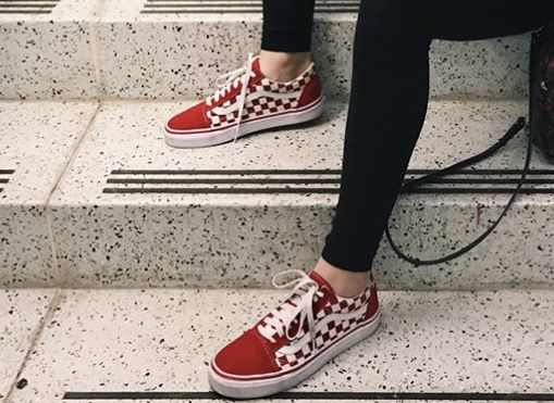 Red Checkered Vans Shoes Red Checkered Vans Shoes Red Shoes