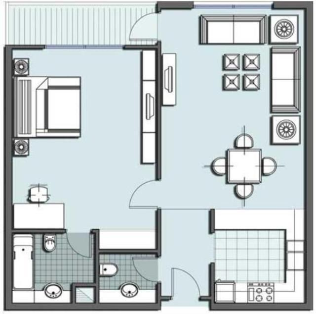 One Room Floor Plan One Room Floor Plan For Small House Tiny