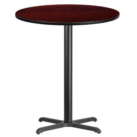 Flash Furniture Inch Round Laminate Table Top With Inch X - 30 inch table base