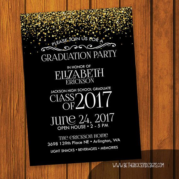 5x7 or 4x6 (you choose) Graduation Party Invitation Colors and Wording can be changed. If you dont see a design that exactly fits your needs MESSAGE ME!