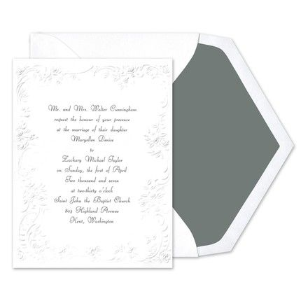 Victorian Border Invitations Birchcraft In Periwinkle Print Wedding Invitations Invitations Wedding Stationary