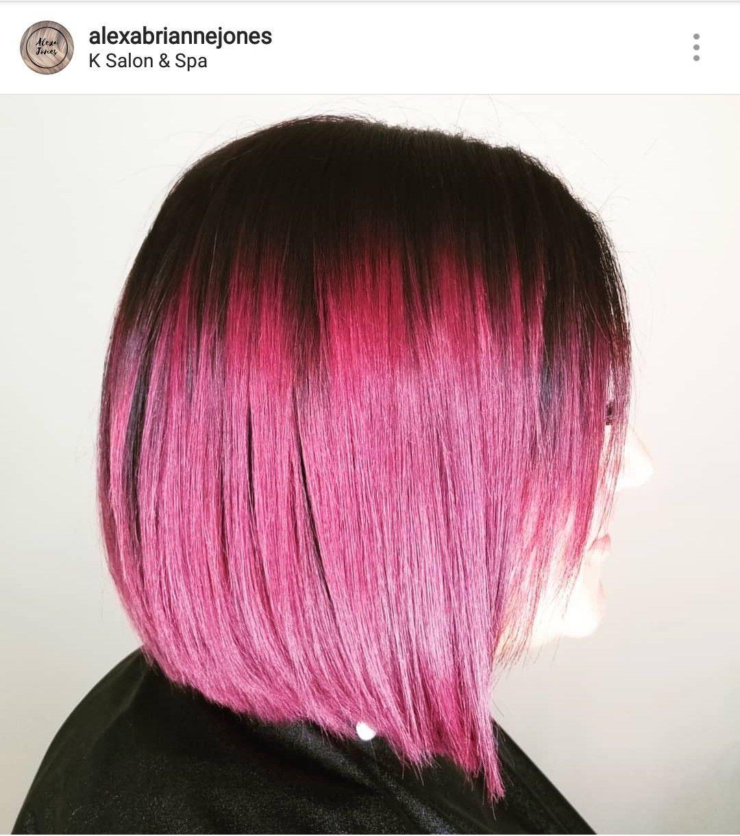 Red violet hair balayage ombre red violet black to red violet