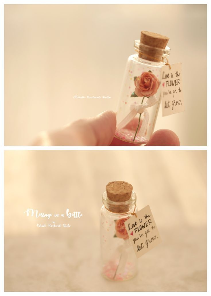 Love is the flower youve got to let growTiny message in a bottleValentine CardGift for herhimGirlfriend giftMothers dayFathers day
