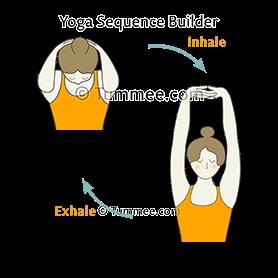 upper chest breathing fingers interlocked yoga  yoga