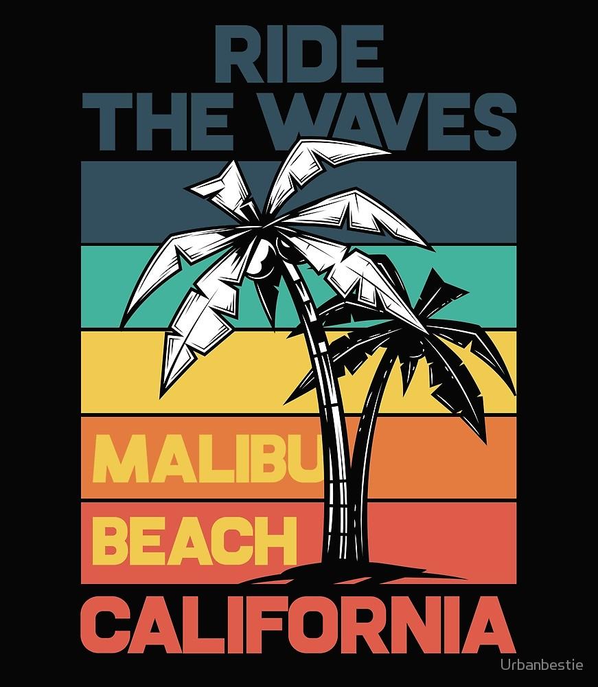Malibu Beach California Surf Tee Men/'s Image by Shutterstock