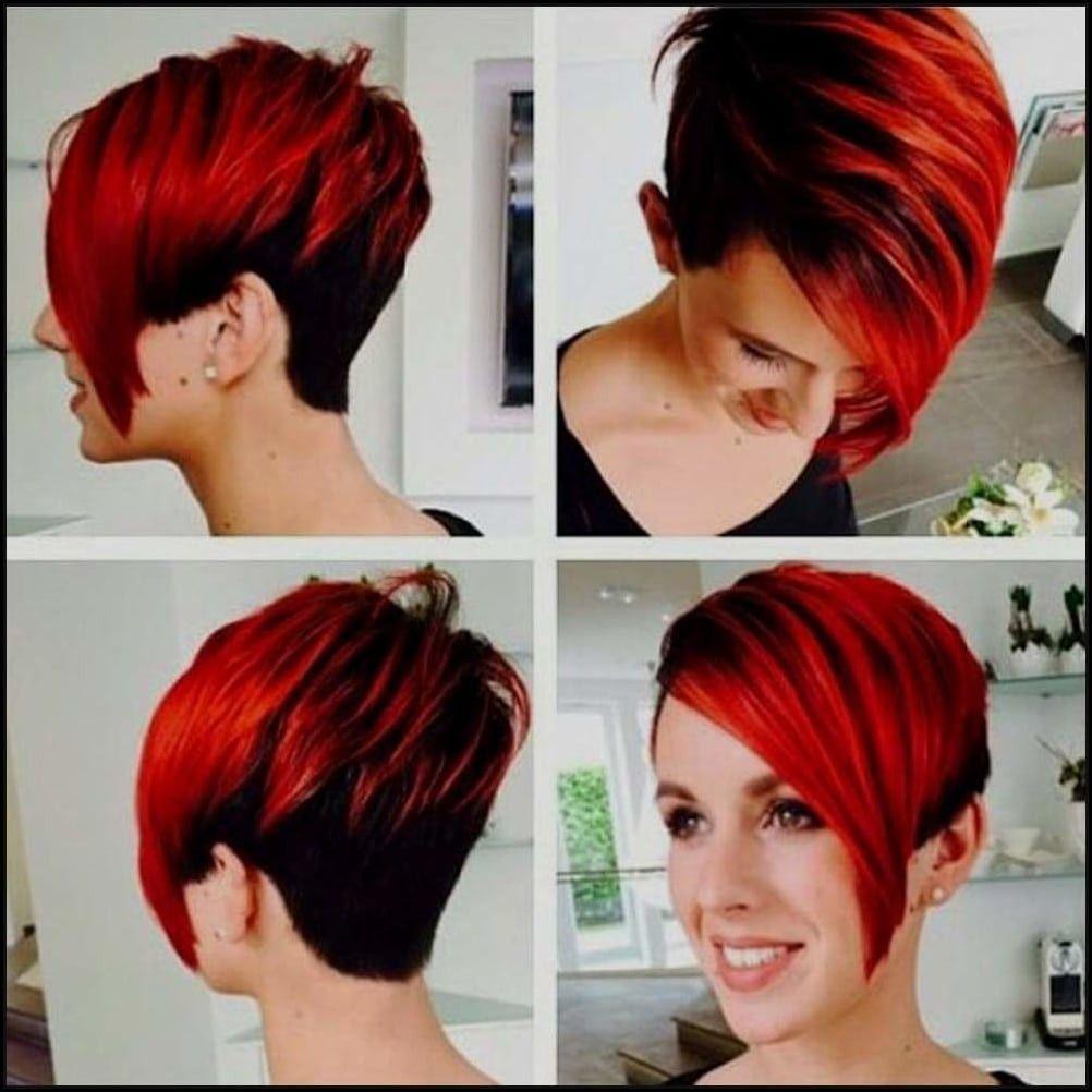 Rot Schwarz Haare