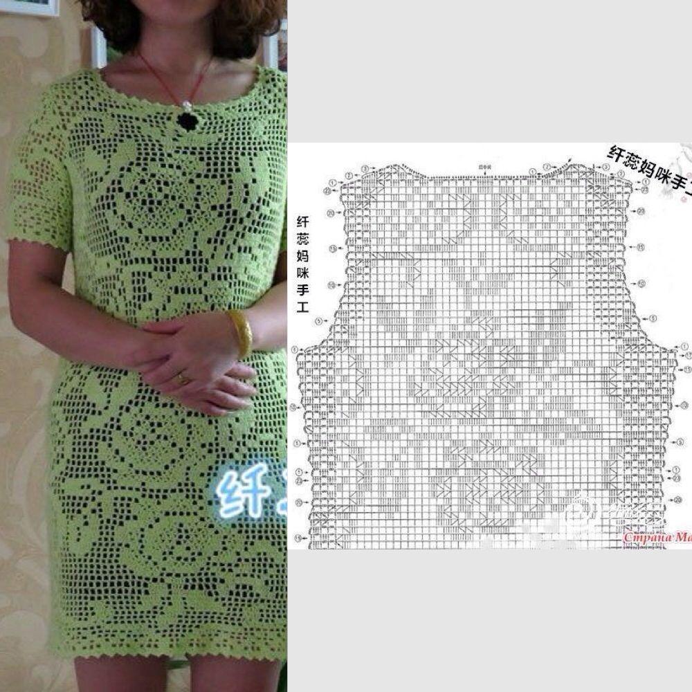 Vestido crochet | Вязание крючком | Pinterest | Tejido, Vestiditos y ...