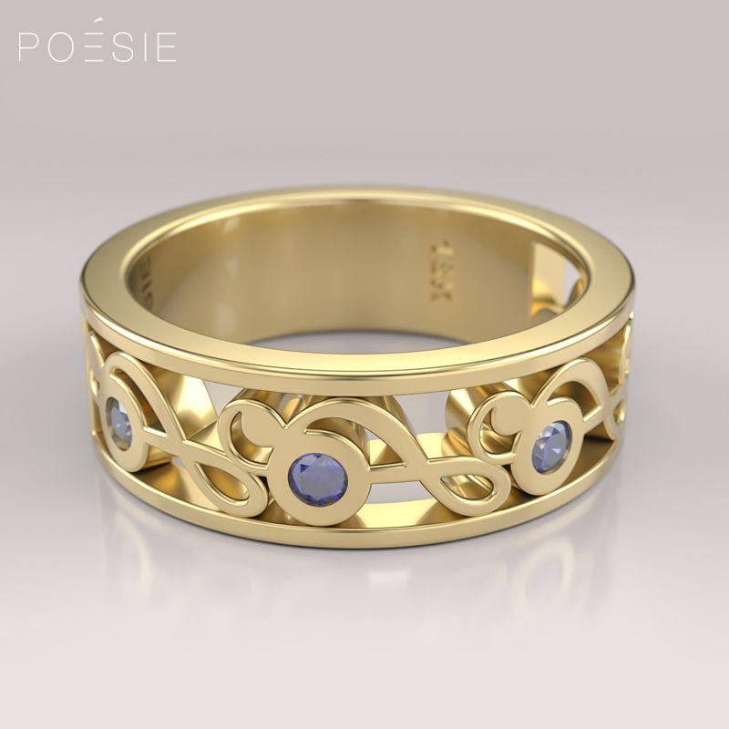 af9beb17e4580 A clave de sol, símbolo universal da música, pauta o design deste anel de