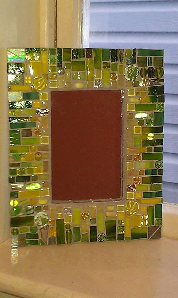Lemon Lime Mosaic Mirror by anniekatsdesigns on Etsy | Mosaicos ...