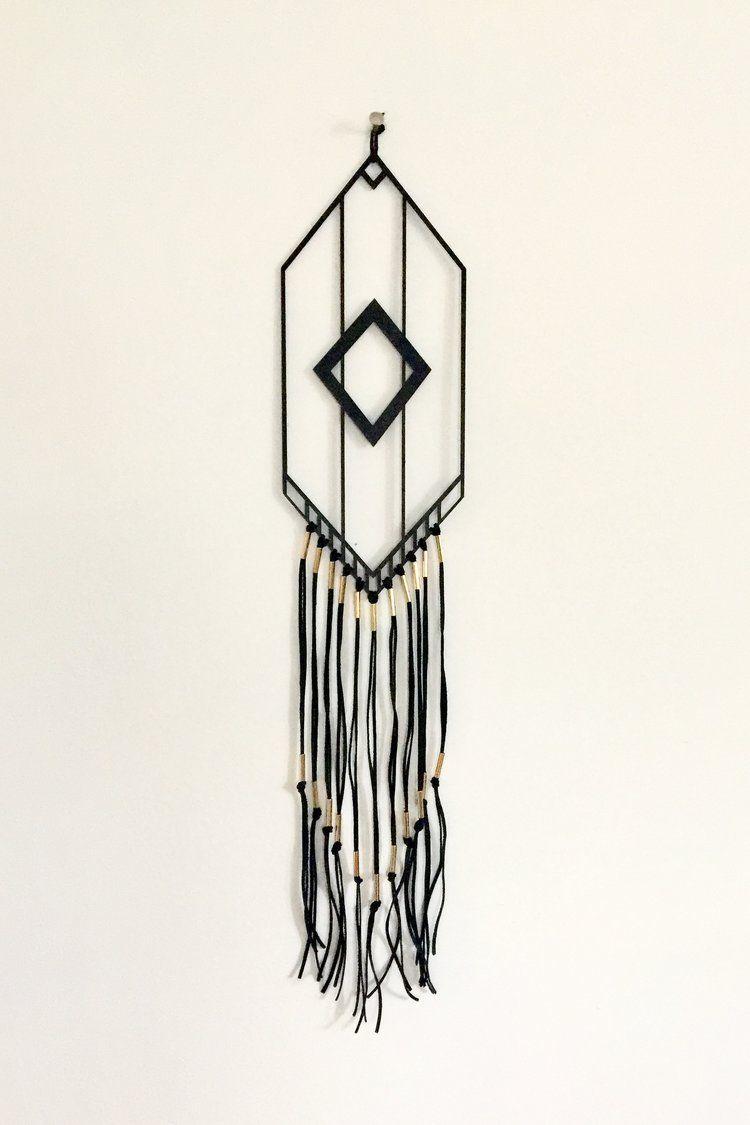 Tassel fringe laser cut wood minimalist bohemian geometric
