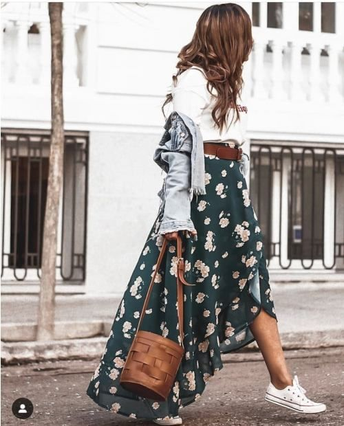 How to Look Casual Chic in Maxi Skirts #casualskirts