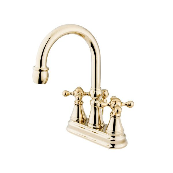 Governor Centerset Bathroom Faucet With Brass Pop Up Drain Bathroom Faucets Elements Of Design Faucet