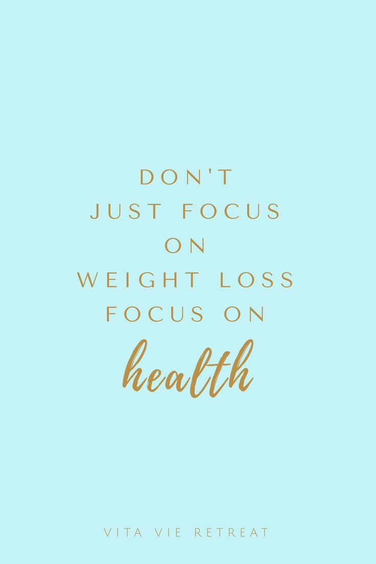If youre trying to lose weight its best to focus on health first Focusing on health will help you establish the best eating and healthy habits that will also lead to weig...