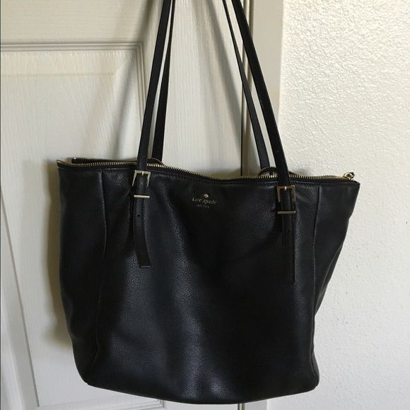 Kate Spade Zip Top Tote Black Purse Handbag Ks Was A Display At