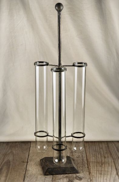 Test Tube Stand with 3 Glass Tubes 21 in.