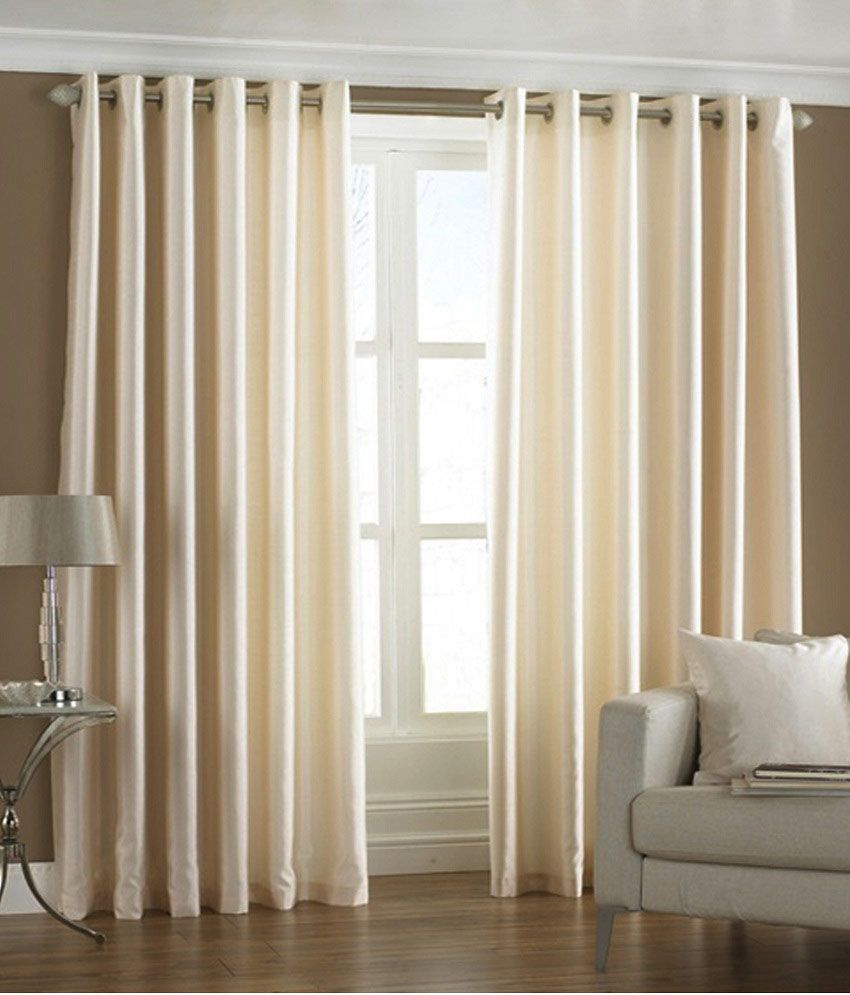 Homefab India Set Of 2 Window Eyelet Curtains Curtains