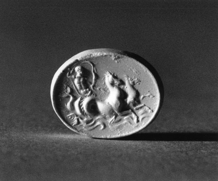 Intaglio…  Intaglio of Neptune Driving Two Hippocamps