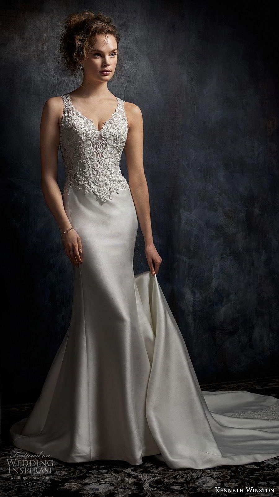 kenneth winston fall 2016 bridal sleeveless strap v neck