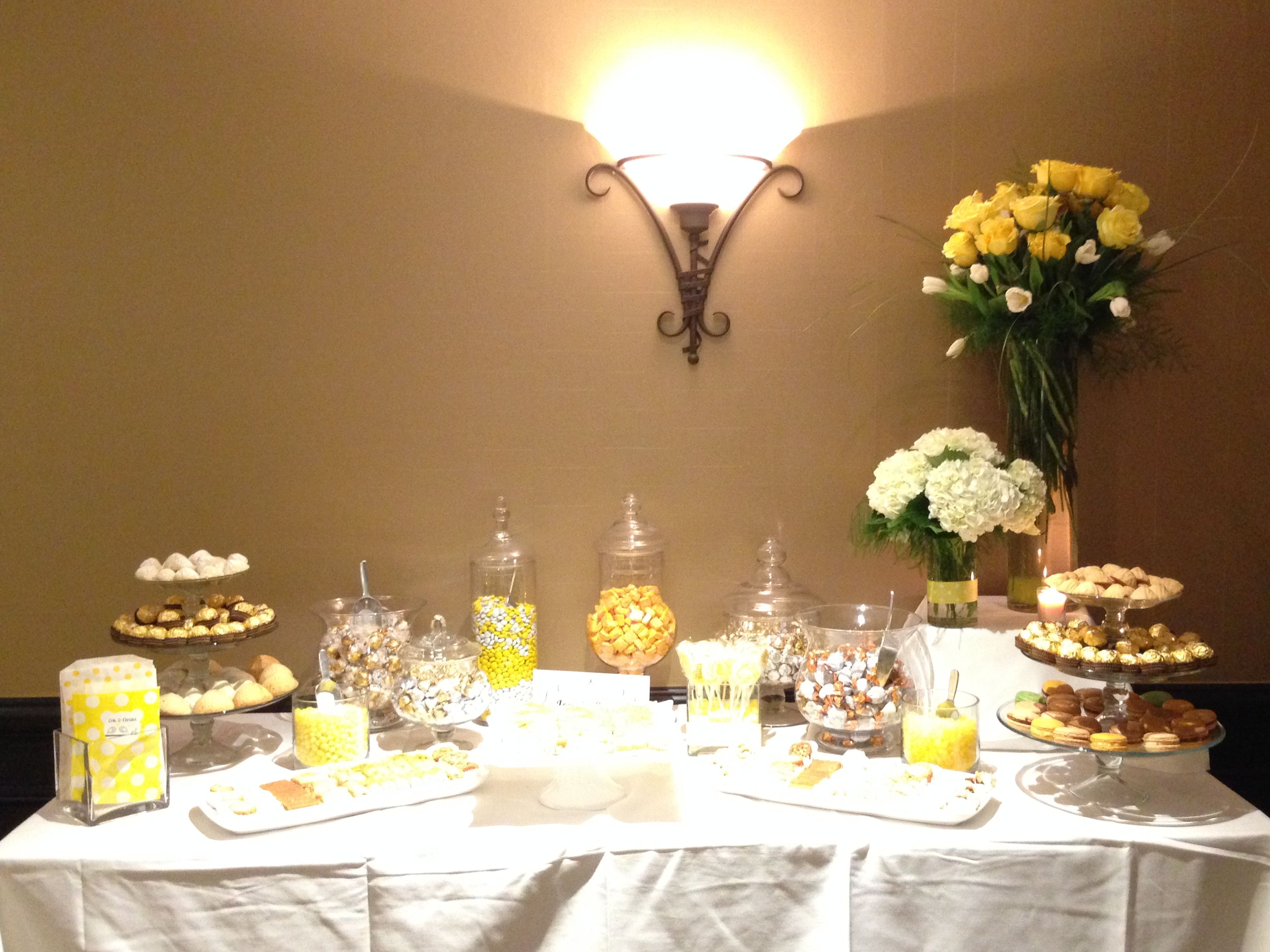 bridal shower - yellow theme, love is sweet | event center at blue