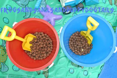 Playing with our food with trucks and shovels-sensory fun