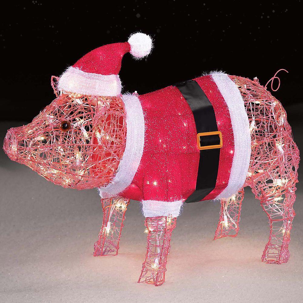 Christmas Pig Yard Decorations Billingsblessingbags Org