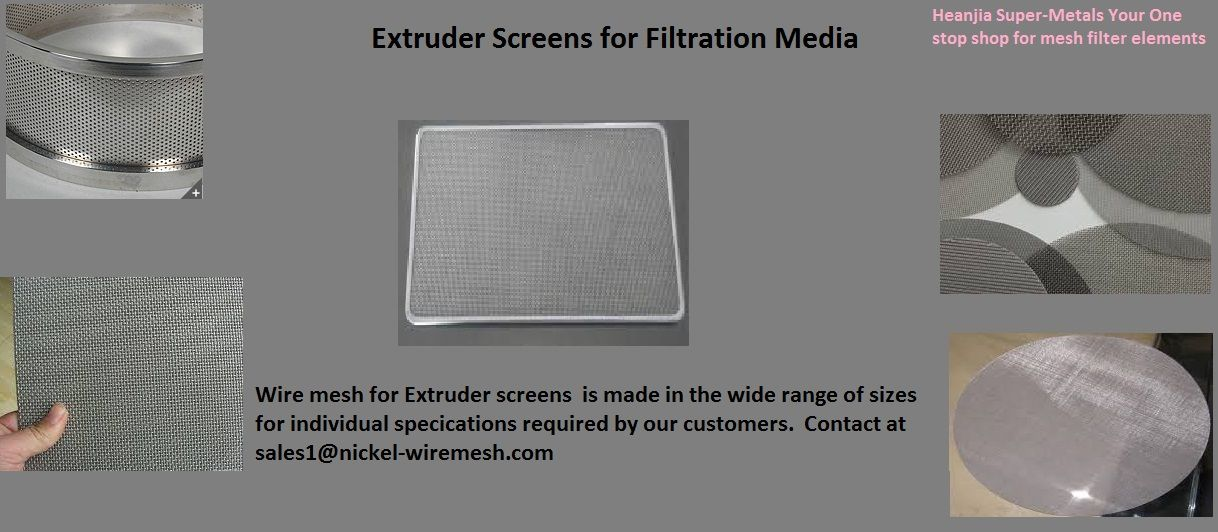 Extruder screens for filtration media Wire mesh, Google