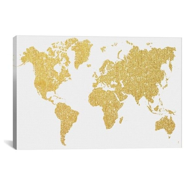 Icanvas gold map giclee print canvas art 2370 czk liked on found it at allmodern gold map graphic art on wrapped canvas gumiabroncs Gallery