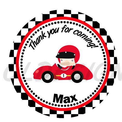 Sticker De Auto De Carrera Etiqueta Auto Por Mysweetlittleowl Carreras De Autos Cumpleanos De Motivo De Disney Cars Autos
