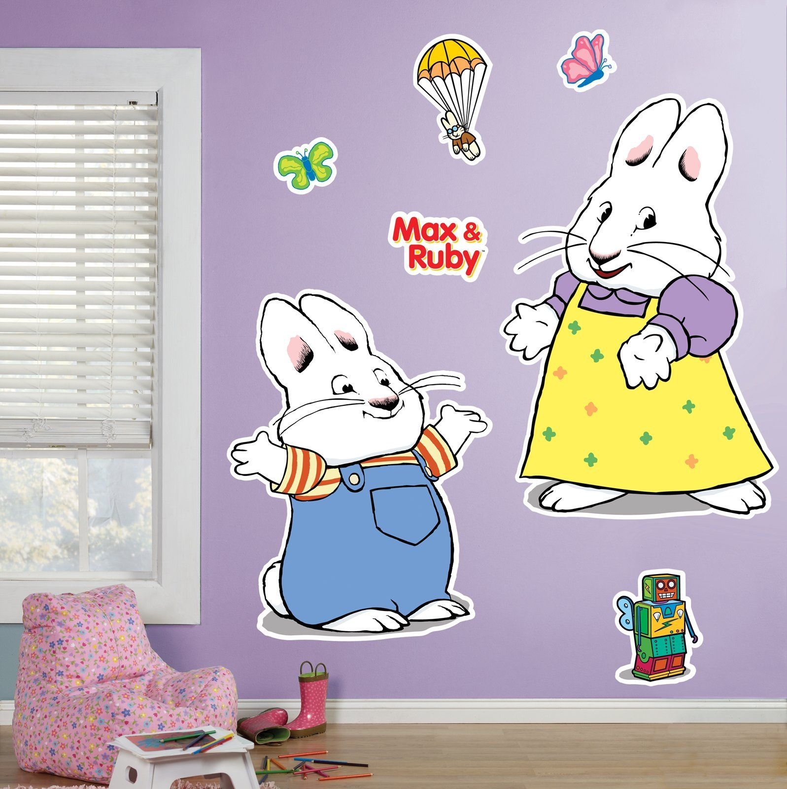 max and ruby giant wall decals