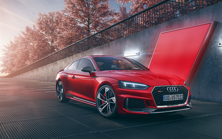 Download Wallpapers Audi Rs5 Supercars 2018 Cars Red Rs5 German