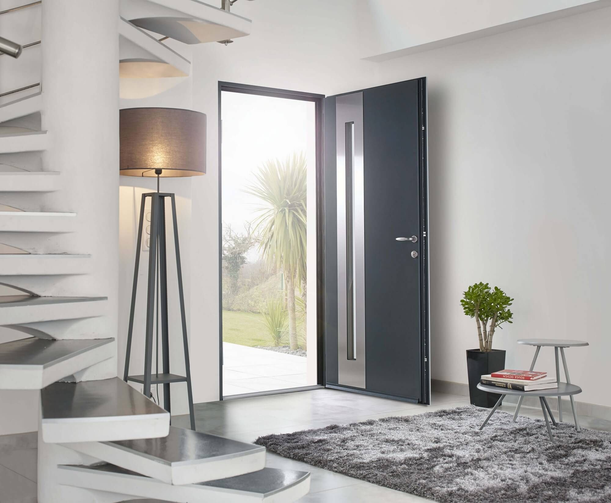 Large Choix De Portes Dentrée Creation Surmesure Interiors - Porte aluminium