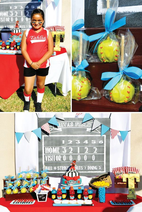 Slammin Softball Birthday Tween Party Birthday Party