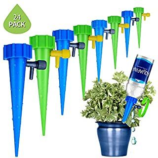 Photo of LABOTA 24 Pieces Drip Irrigation, Adjustable Automatic Irrigation Pots System for Plants Irrigation System for Indoor and Outdoor Plants