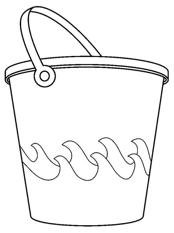 Bucket And Sea Waves Coloring Pages Best Place To Color Coloring Pages Beach Bucket Sea Waves