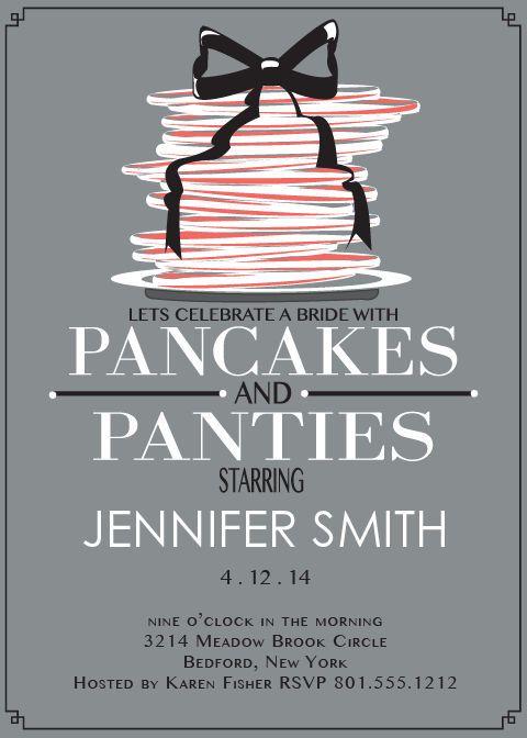 18fd384c798b Pancakes and Panties Bridal Shower Invitation